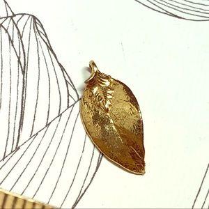 Vintage Gold Dipped Hawaiian Maile Leaf Pendant